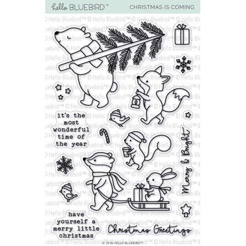 Hello Bluebird CHRISTMAS IS COMING Clear Stamps hb2141 Preview Image
