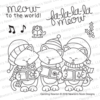 Newton's Nook Designs CAROLING NEWTON Clear Stamps NN1810S04*