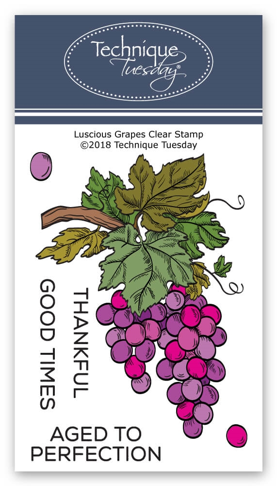Technique Tuesday LUSCIOUS GRAPES Clear Stamps 02727 zoom image