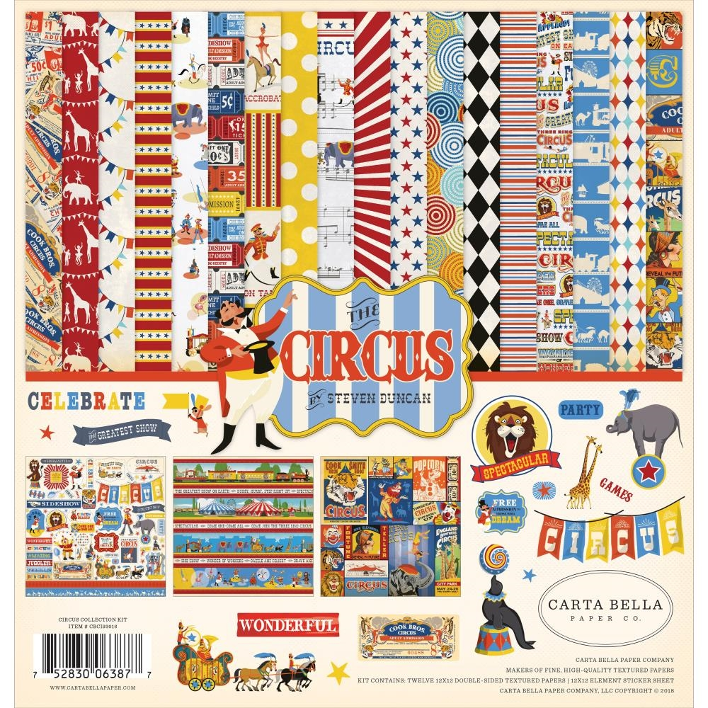 Carta Bella THE CIRCUS 12 x 12 Collection Kit cbci93016 zoom image