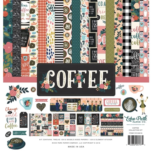 Echo Park COFFEE 12 x 12 Collection Kit co164016 Preview Image