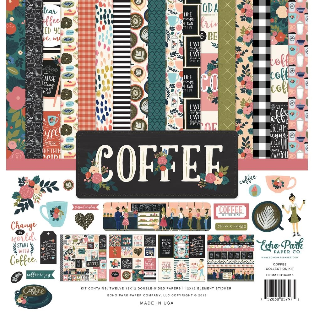 Echo Park COFFEE 12 x 12 Collection Kit co164016 zoom image