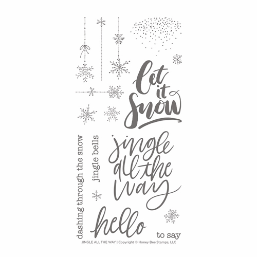 Honey Bee JINGLE ALL THE WAY Clear Stamp Set hbst-141 Preview Image