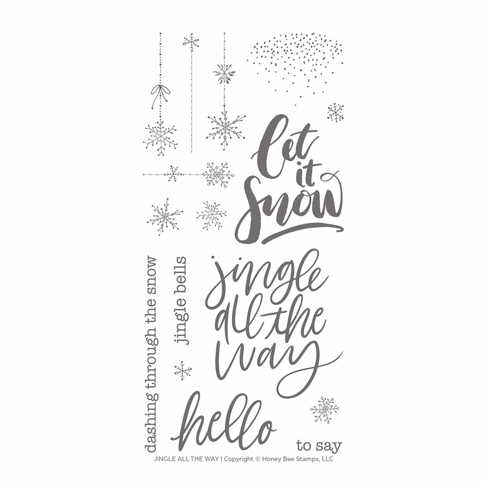Honey Bee JINGLE ALL THE WAY Clear Stamp Set hbst-141 zoom image