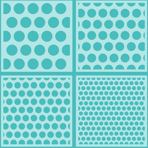 Honey Bee POLKA DOT BACKGROUND Stencils Set of 4 hbsl-010 Preview Image