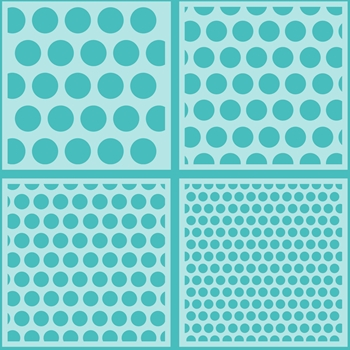 Honey Bee POLKA DOT BACKGROUND Stencils Set of 4 hbsl-010