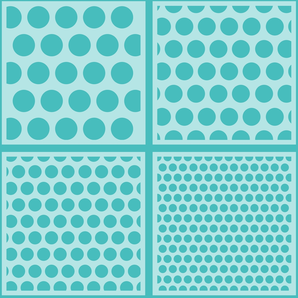 Honey Bee POLKA DOT BACKGROUND Stencils Set of 4 hbsl-010 zoom image