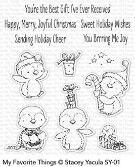 My Favorite Things SWEET HOLIDAY PENGUINS Clear Stamps SY01