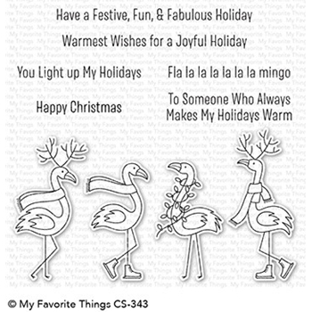 My Favorite Things FESTIVE FLAMINGOS Clear Stamps CS343