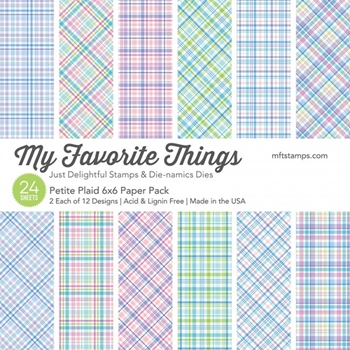 My Favorite Things PETITE PLAID 6x6 Inch Paper Pack 8698
