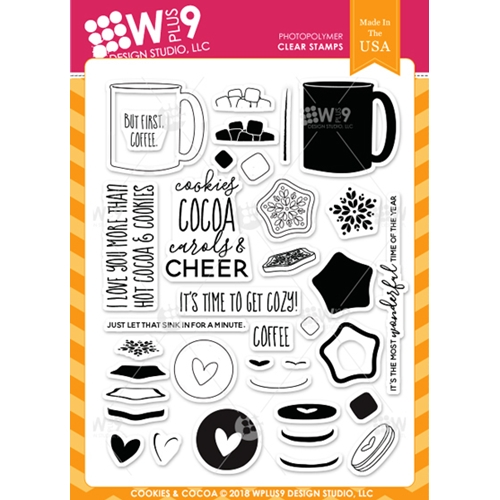 Wplus9 COOKIES AND COCOA Clear Stamps cl-wp9coco Preview Image