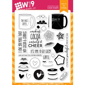 Wplus9 COOKIES AND COCOA Clear Stamps cl-wp9coco