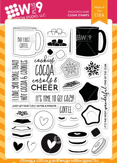 Wplus9 COOKIES AND COCOA Clear Stamps cl-wp9coco zoom image
