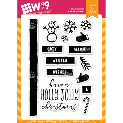 Wplus9 HOLLY JOLLY CHRISTMAS Clear Stamps cl-wp9hjc* Preview Image