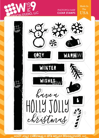 Wplus9 HOLLY JOLLY CHRISTMAS Clear Stamps cl-wp9hjc* zoom image