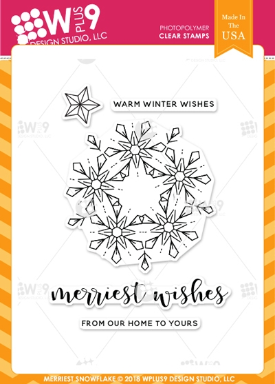 Wplus9 MERRIEST SNOWFLAKE Clear Stamps cl-wp9msn zoom image