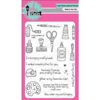 Pink and Main CRAFTY Clear Stamps PM0305