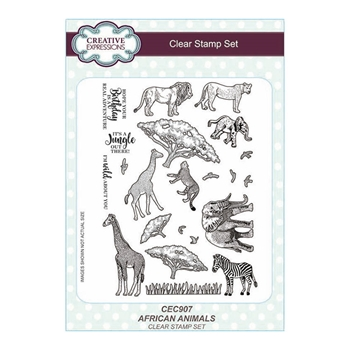 Creative Expressions AFRICAN ANIMALS Clear Stamps cec907