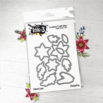 Inkon3 POINSETTIA Craft Dies 98786