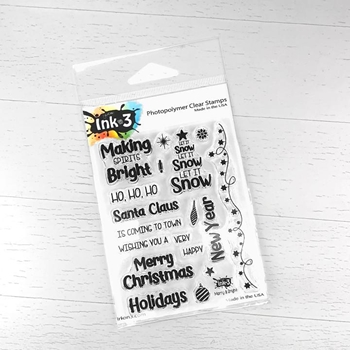 Inkon3 MERRY AND BRIGHT Clear Stamps 98784