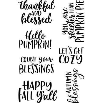 Jane's Doodles HELLO FALL Clear Stamp Set 743450*