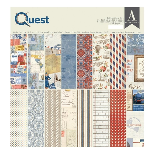 Authentique QUEST 12 x 12 Collection Kit que011* Preview Image