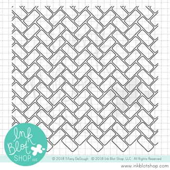Ink Blot Shop Clear Stamp Set BRICKWORK BACKGROUND inbl051
