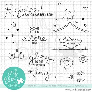 Ink Blot Shop Clear Stamp Set NEWBORN KING inbl054