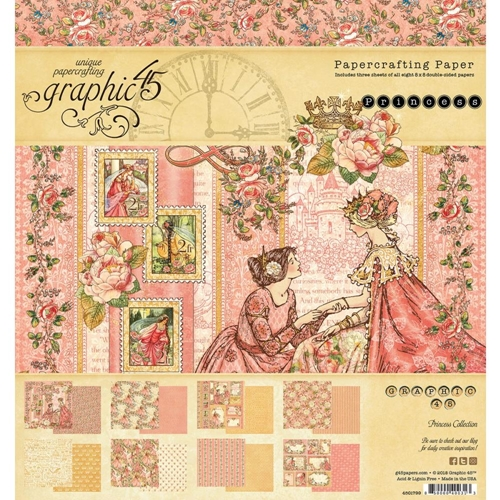 Graphic 45 PRINCESS 8 x 8 Paper Pad 4501799 Preview Image