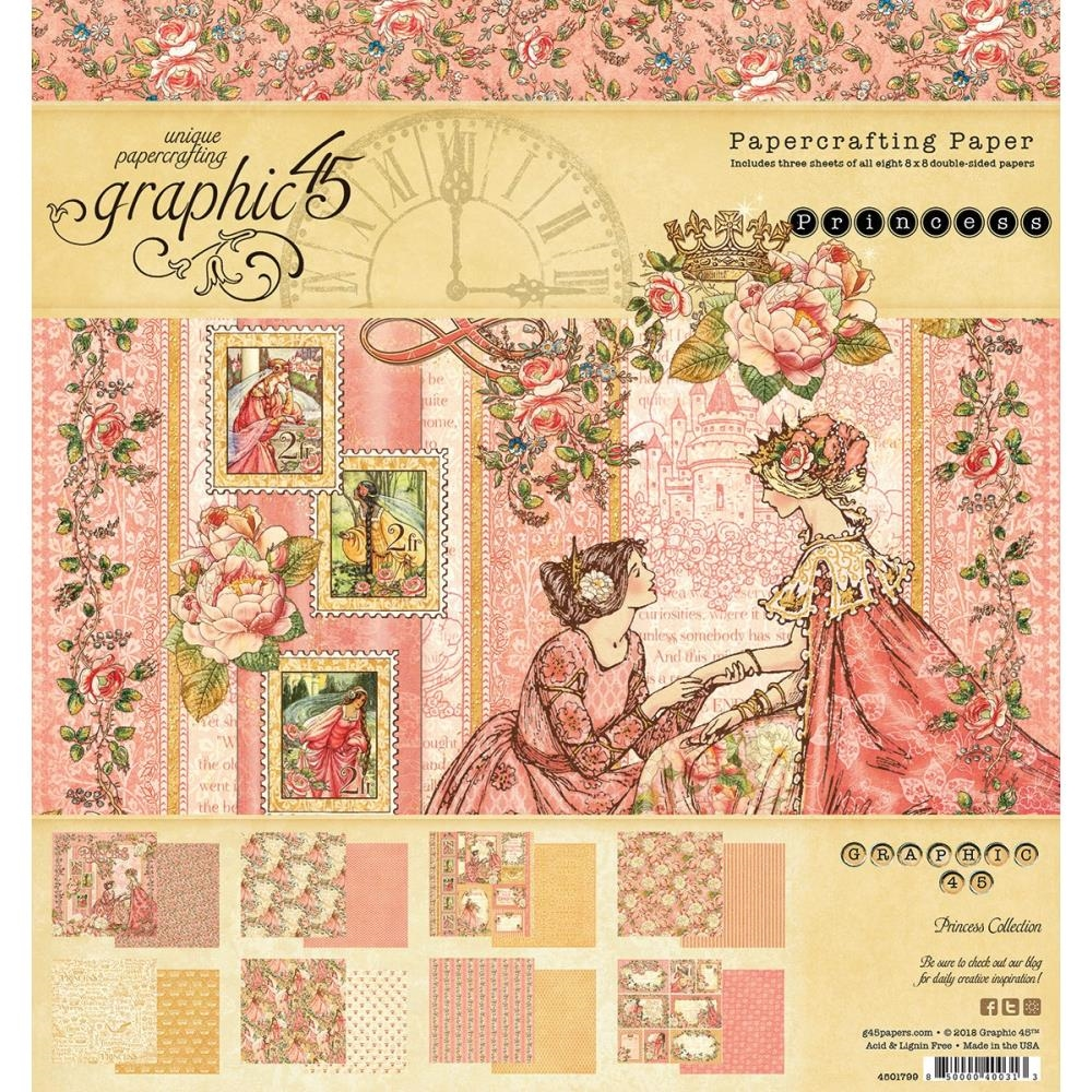 Graphic 45 PRINCESS 8 x 8 Paper Pad 4501799 zoom image