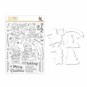 Simon Says Stamps And Dies NAUGHTY AND NICE ELVES set335nn