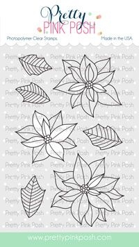 Pretty Pink Posh POINSETTIA Clear Stamps zoom image
