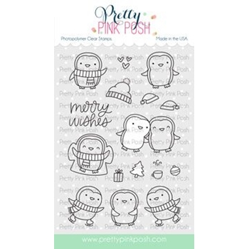 Pretty Pink Posh PENGUIN PALS Clear Stamps