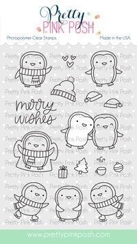 Pretty Pink Posh PENGUIN PALS Clear Stamps zoom image