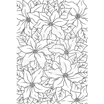 Woodware Craft Collection POINSETTIA LACE Clear Stamps jgs612