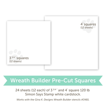 Gina K Design PRE-CUT CARDSTOCK FOR WREATH BUILDER White Card Stock 3498