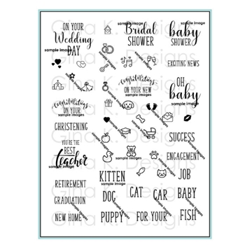 Gina K Designs REASONS TO CELEBRATE Clear Stamps 2958*