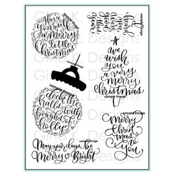 Gina K Designs A VERY MERRY CHRISTMAS Clear Stamps 2989