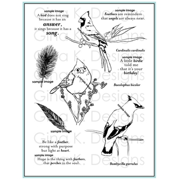 Gina K Designs SNOW BIRDS Clear Stamps 2965