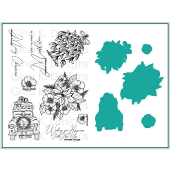 Gina K Designs OLD FASHIONED CHRISTMAS Clear Stamps and Dies BUNDLE 2972