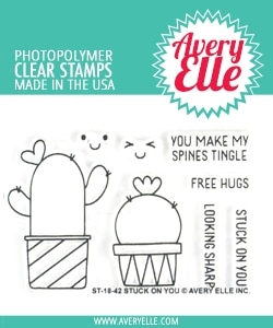 Avery Elle Clear Stamps STUCK ON YOU ST 18 42