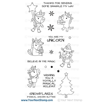 Your Next Stamp WINTER UNICORNS ROCK Clear cyns685