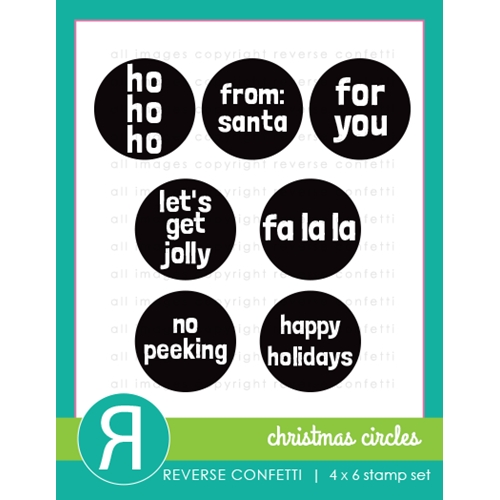 Reverse Confetti CHRISTMAS CIRCLES Clear Stamps  Preview Image
