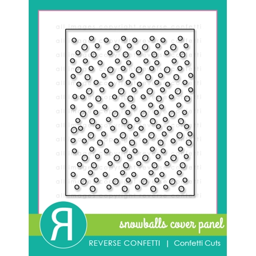 Reverse Confetti Cuts SNOWBALLS COVER PANEL Die  Preview Image