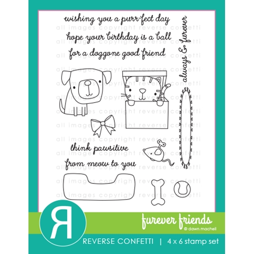 Reverse Confetti FUREVER FRIENDS Clear Stamps Preview Image
