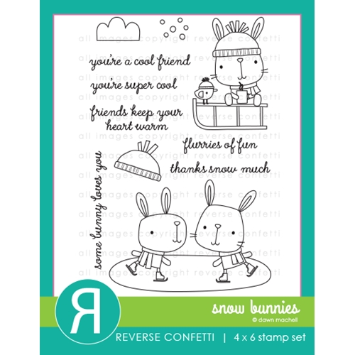 Reverse Confetti SNOW BUNNIES Clear Stamps  Preview Image