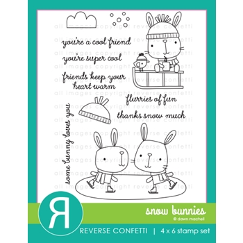 Reverse Confetti SNOW BUNNIES Clear Stamps