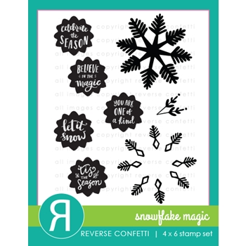 Reverse Confetti SNOWFLAKE MAGIC Clear Stamps