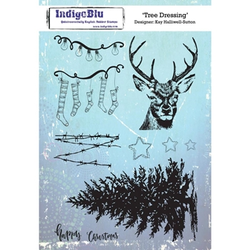 IndigoBlu Cling Stamp TREE DRESSING ind0473*