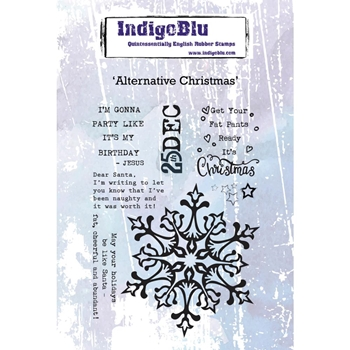 IndigoBlu Cling Stamp ALTERNATIVE CHRISTMAS ind0475*